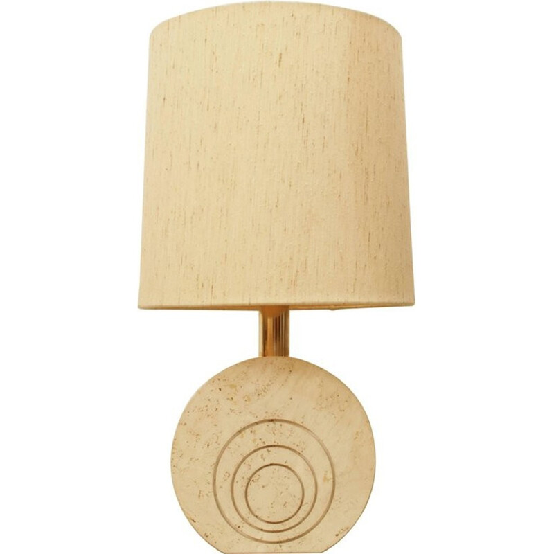 Vintage table lamp in travertine by Fratelli Manelli - 1970s