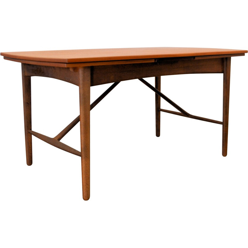 Vintage dining table in teak by Svend Aage Madsen for K. Knudsen - 1950s