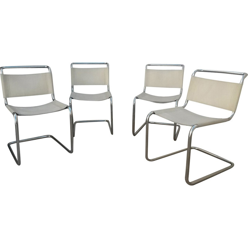 Set of 4 vintage S33 dining chairs by Mart Stam - 1970s