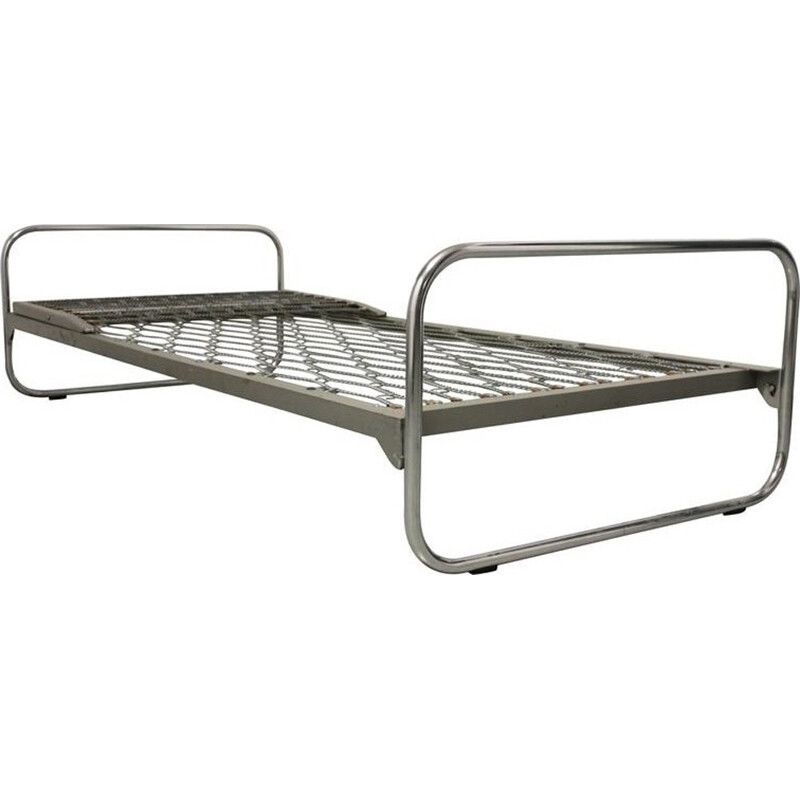 """Vintage """"Bauhaus"""" tubular bed by Alfred Roth for Embru - 1930s"""