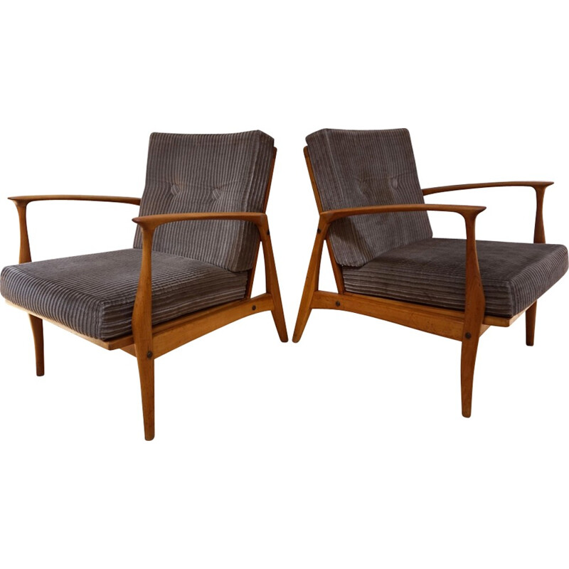 Set of 2 Vintage Easy Chairs by Ib Kofod-Larsen  - 1960s