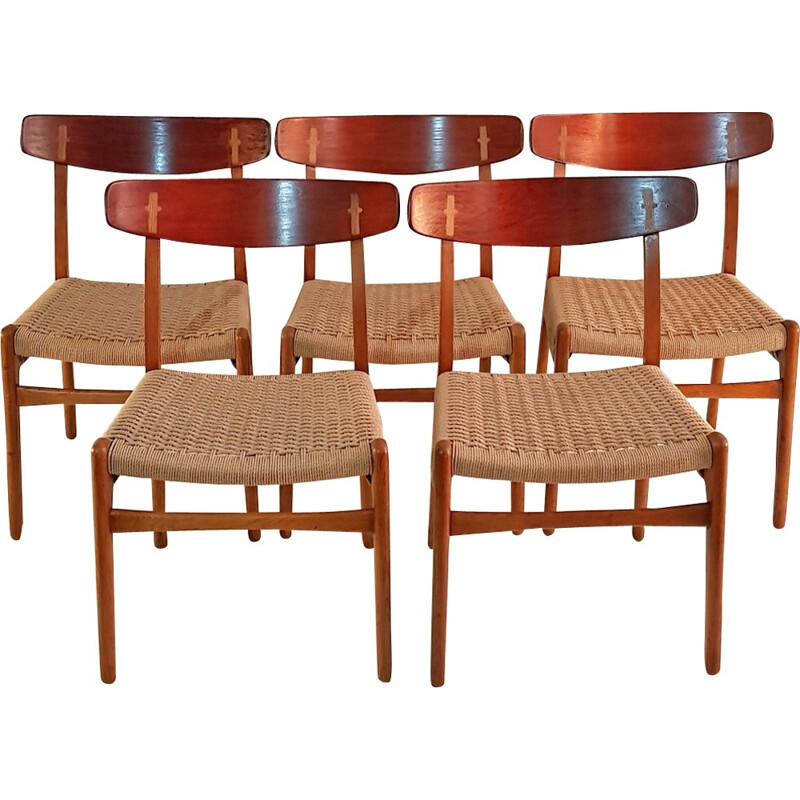"Set of 5 ""CH23"" Chairs by Hans Wegner - 1950"