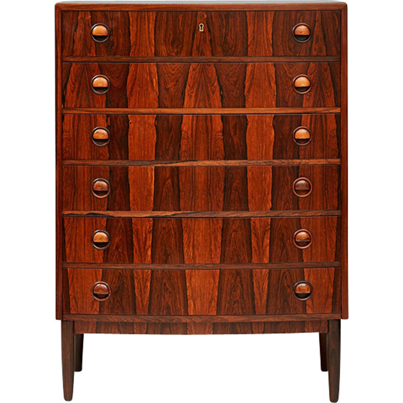 Vintage chest of drawers in rosewood by Kai Kristiansen - 1960s