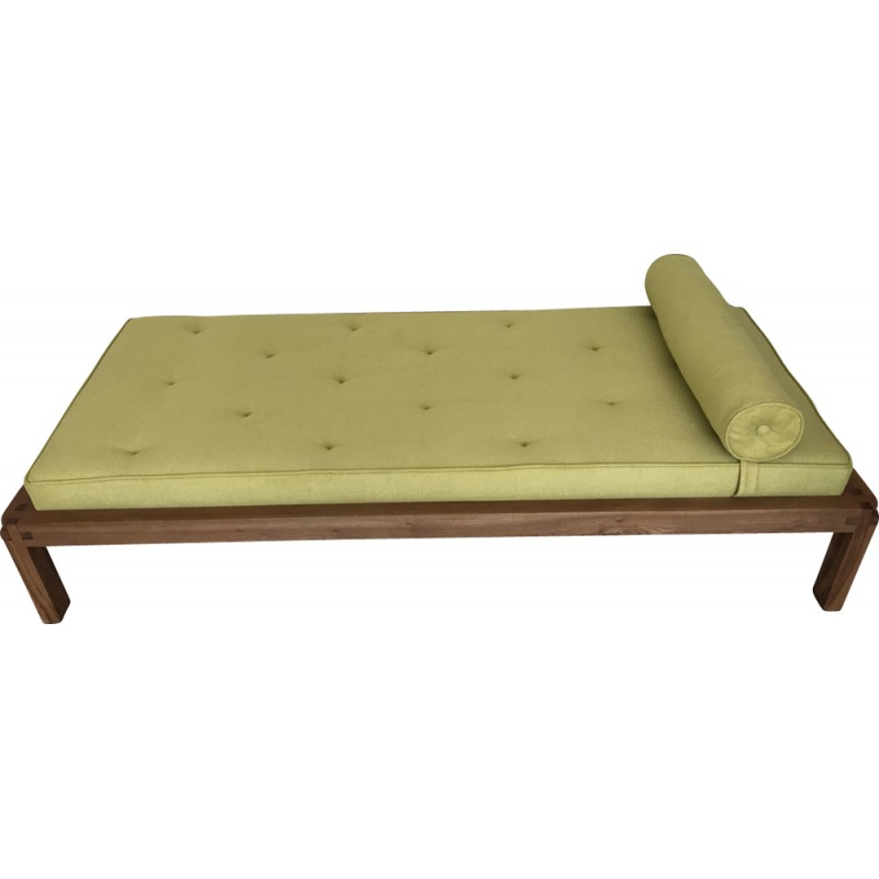 Vintage daybed in solid elm by Pierre Chapo - 1970s