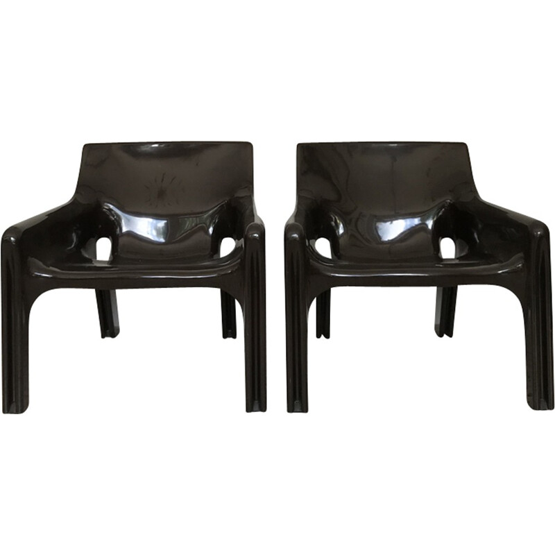 "Set of 2 ""Vicario"" armchairs by Vico Magistretti - 1970s"