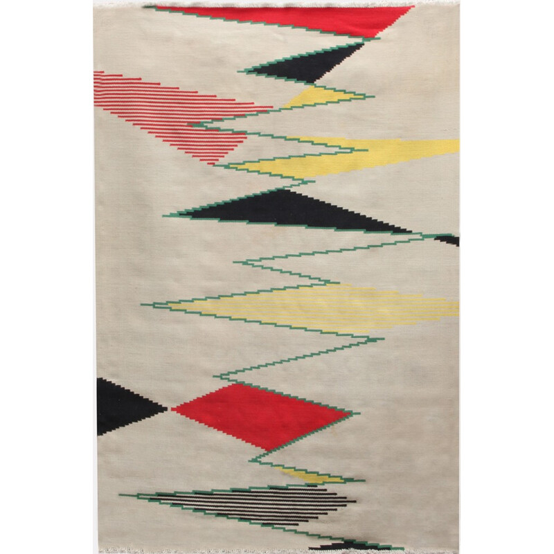 Large Czech Vintage Rug by Antonin Kybal - 1950s