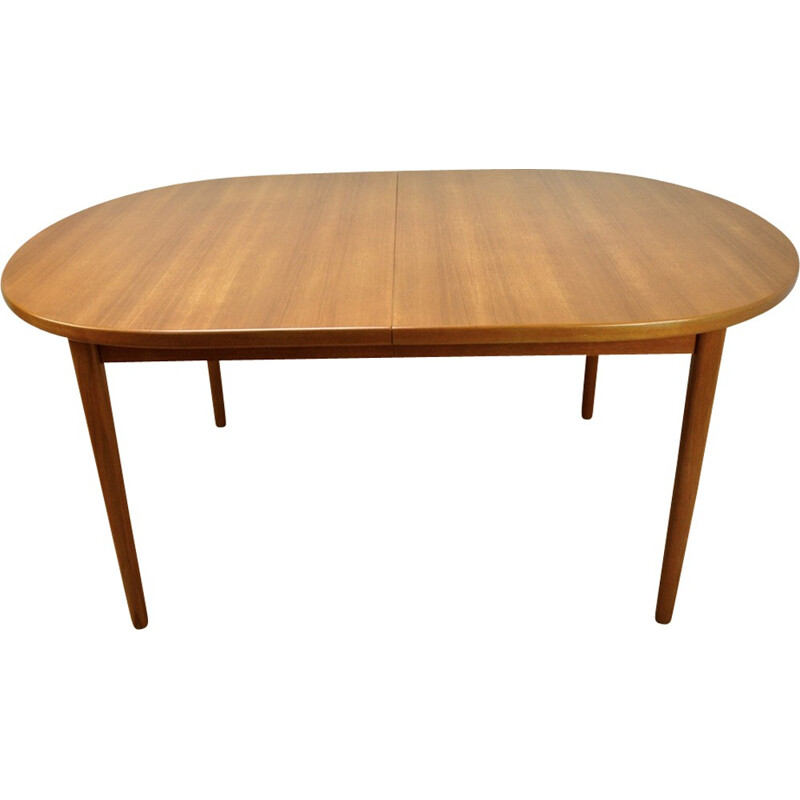 Vintage Double Extendable Teak Dining Table Modell OVE by Nils Jonsson for Troeds - 1960s