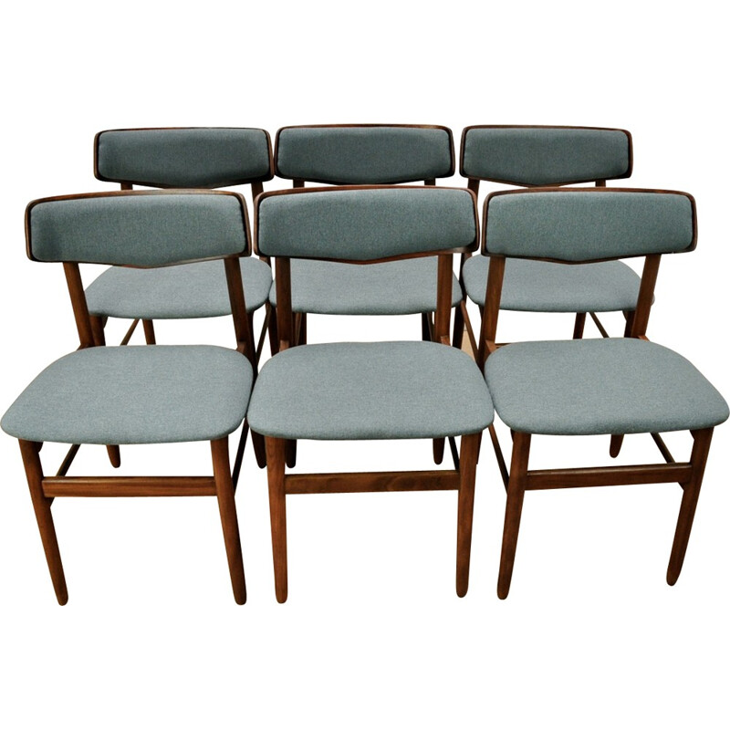 Set of 6 vintage Danish Chairs in rosewood - 1960s