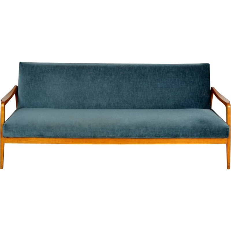 Vintage daybed sofa in beechwood - 1960s