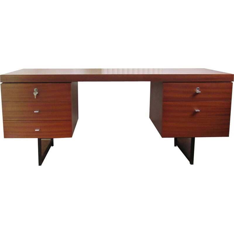 Vintage desk in mahogany by Pierre Guariche for Meurop - 1960s