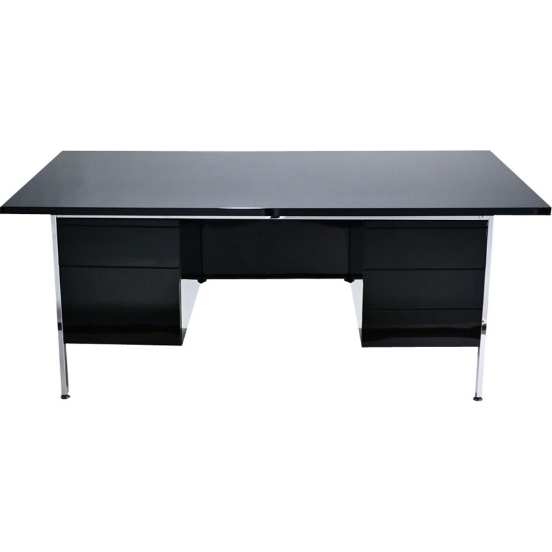 Vintage  lacquered and chrome desk by Florence Knoll - 1950's