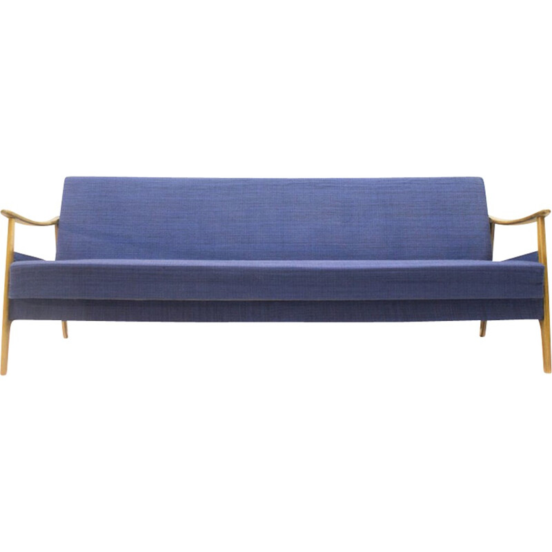 Blue Scandinavian Sofa/daybed - 1960s