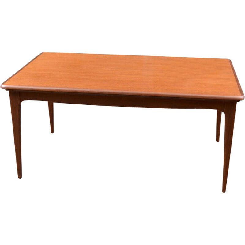Vintage french extendable dining room table - 1960s