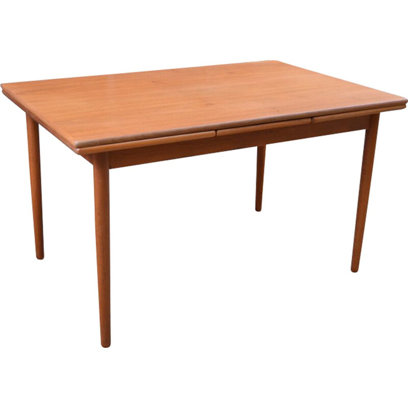 Danish dining room table with extensions - 1960s