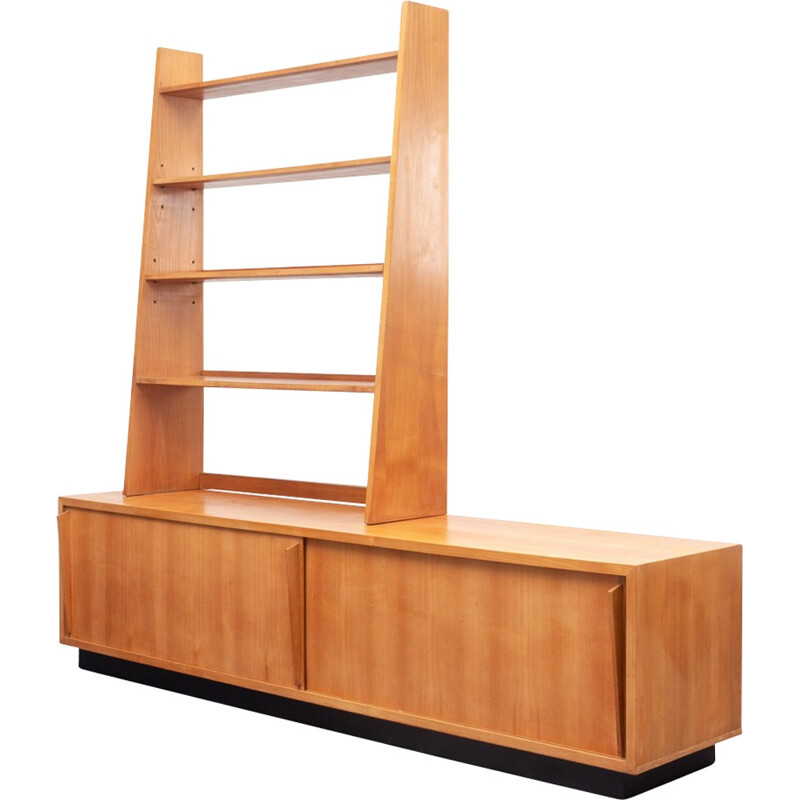 2-part lowboard with shelf in cherrywood - 1950s