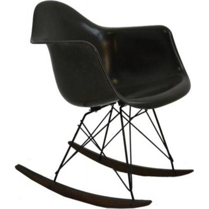 Brown Vintage rocking chair by Ray & Charles Eames - 1990s