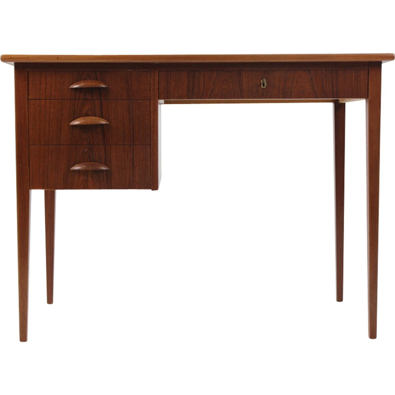 Vintage Danish writing desk with 3 drawers - 1960s