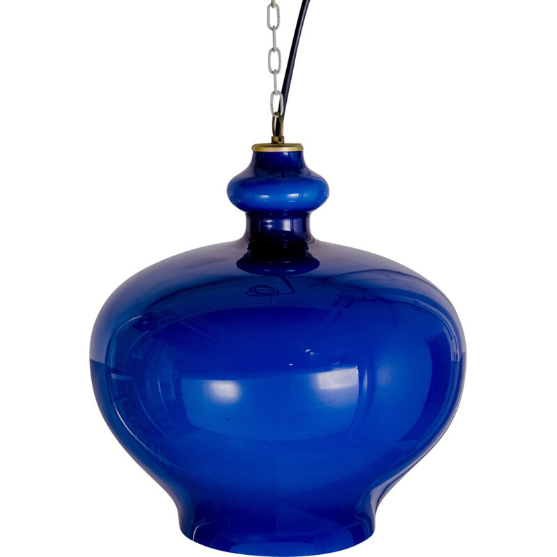 Vintage blue pendant lamp by Hans Agne Jakobsson for AB Markaryd - 1960s