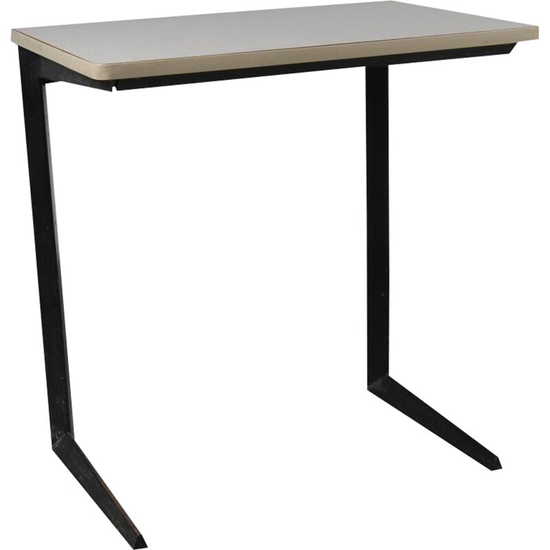 Vintage Small Dutch desk in wood and metal - 1950s
