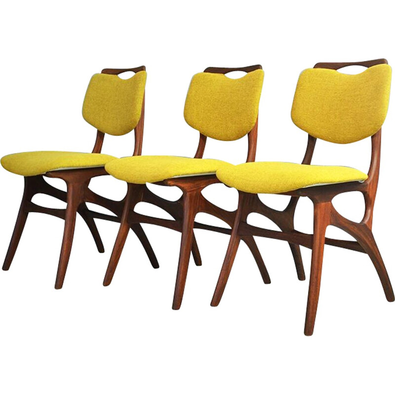 Set of 3 Vintage Teak dining chairs - 1950s