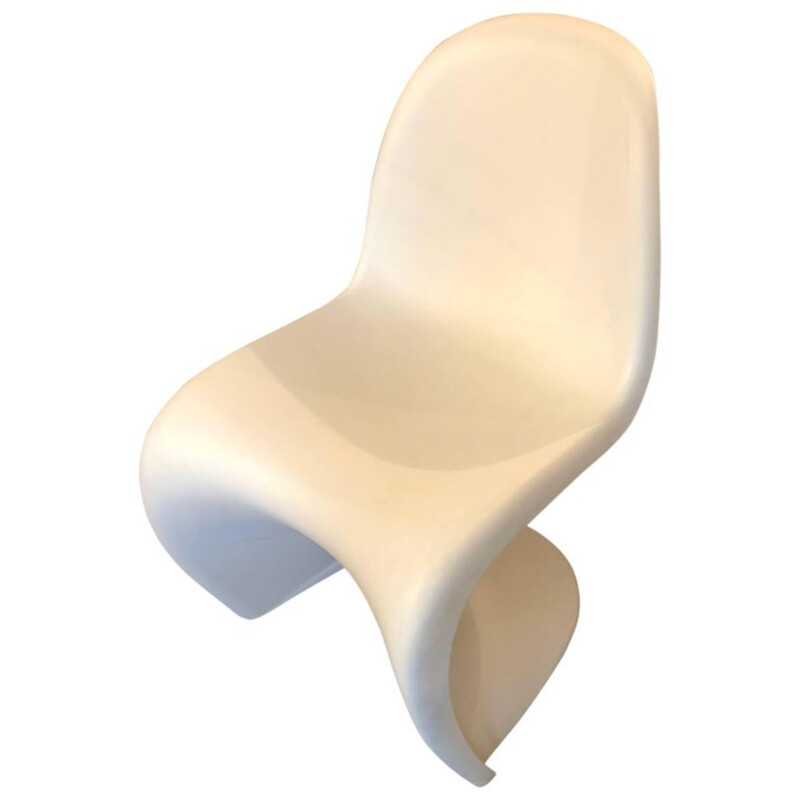 Vintage white chair by Verner Panton for Vitra - 1960s