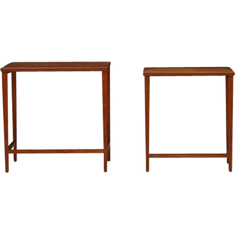Set of 2 Vintage tables in Teak Danish Design - 1960s