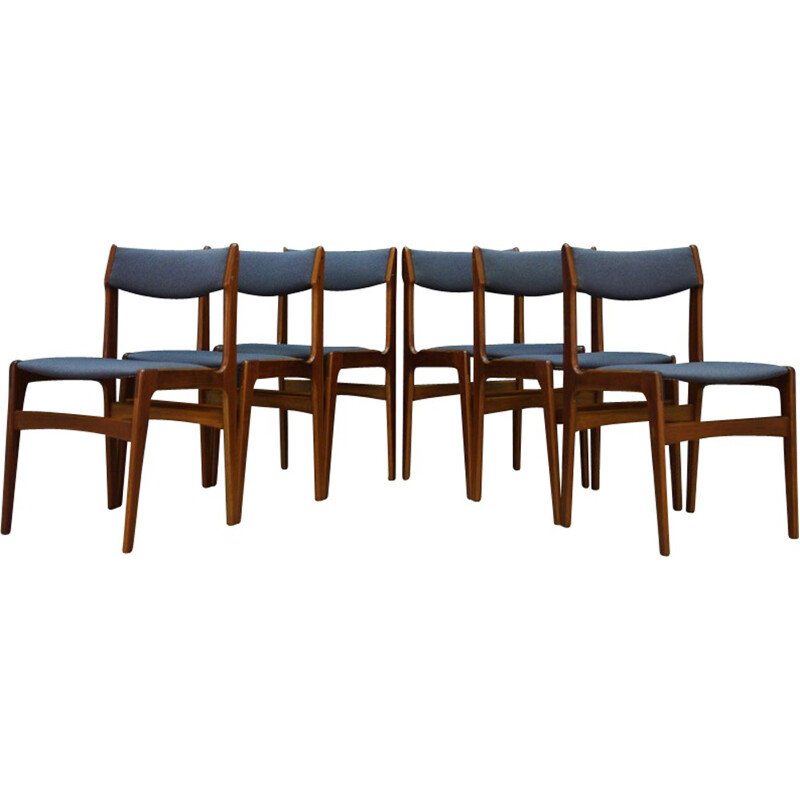 Set of 6 dining chairs in teak - 1960s