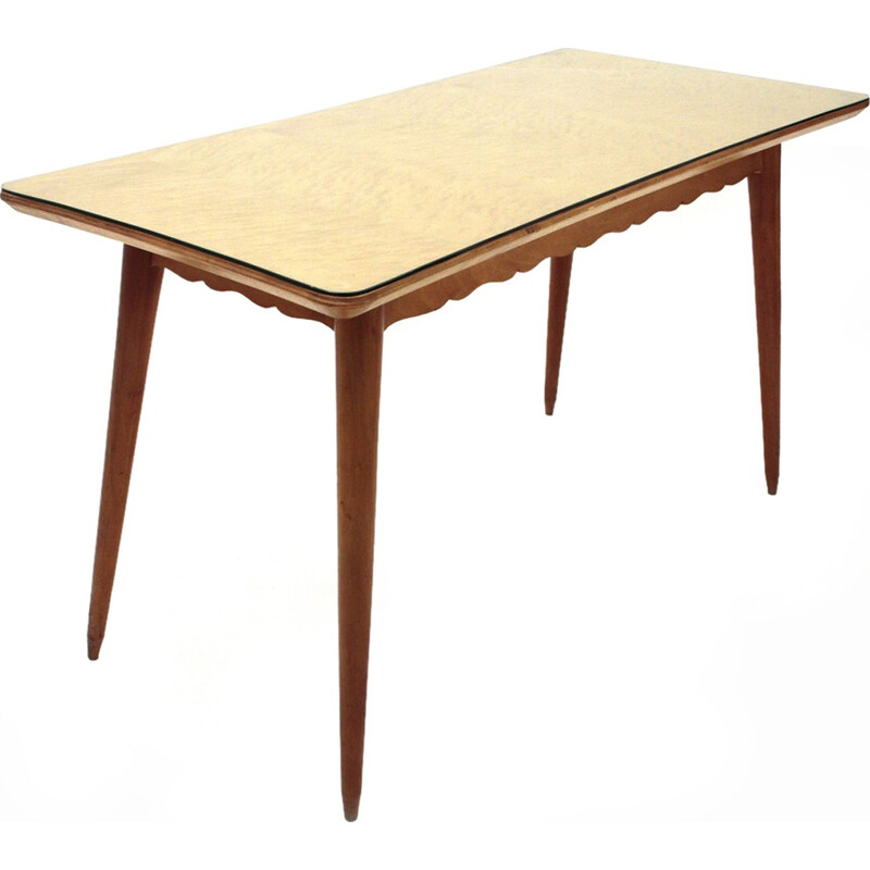 Vintage italian dining wooden table - 1950s