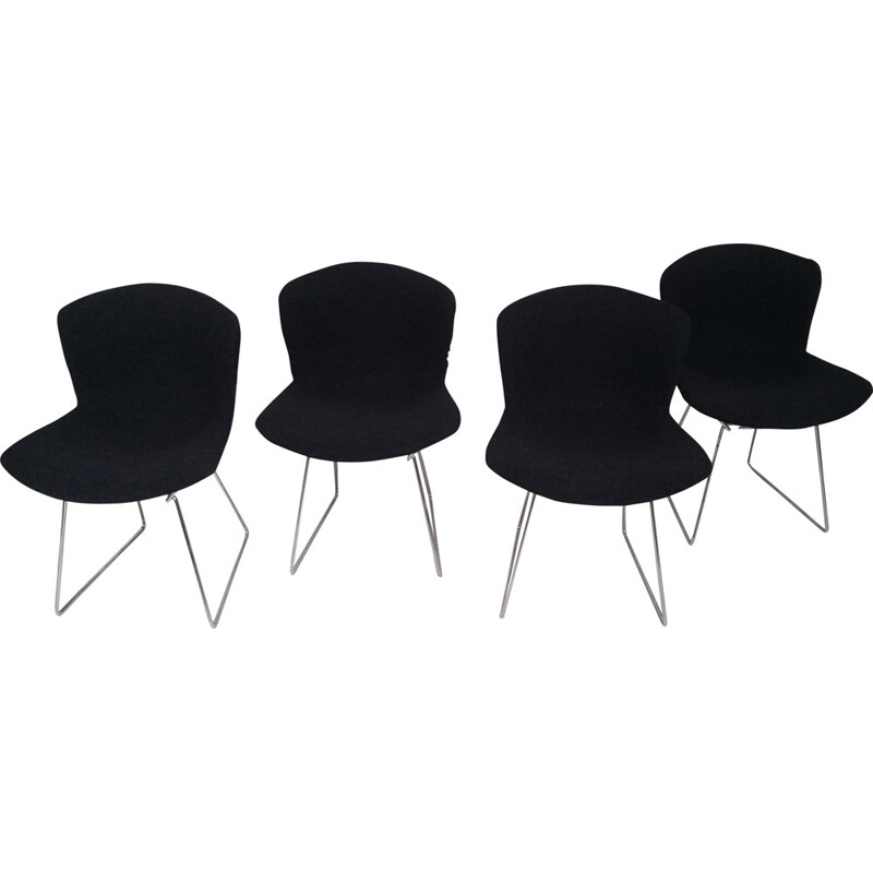 "Set 4 ""Wire"" Chairs by Harry Bertoia for Knoll International - 1980s"
