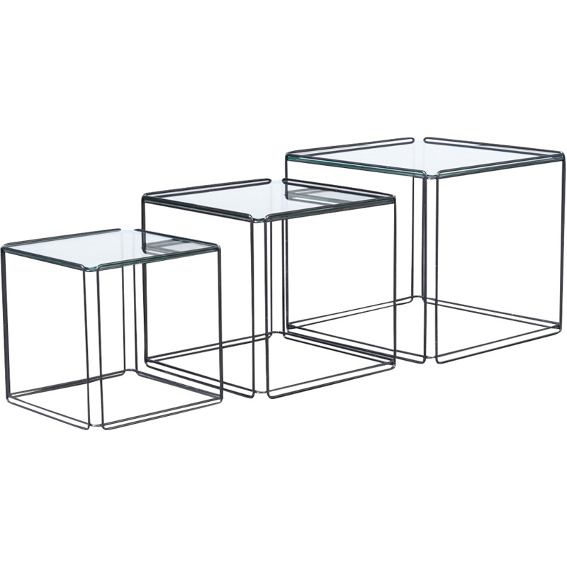 """""""Isocèle"""" vintage side table by Max Sauze for Atrow - 1960s"""