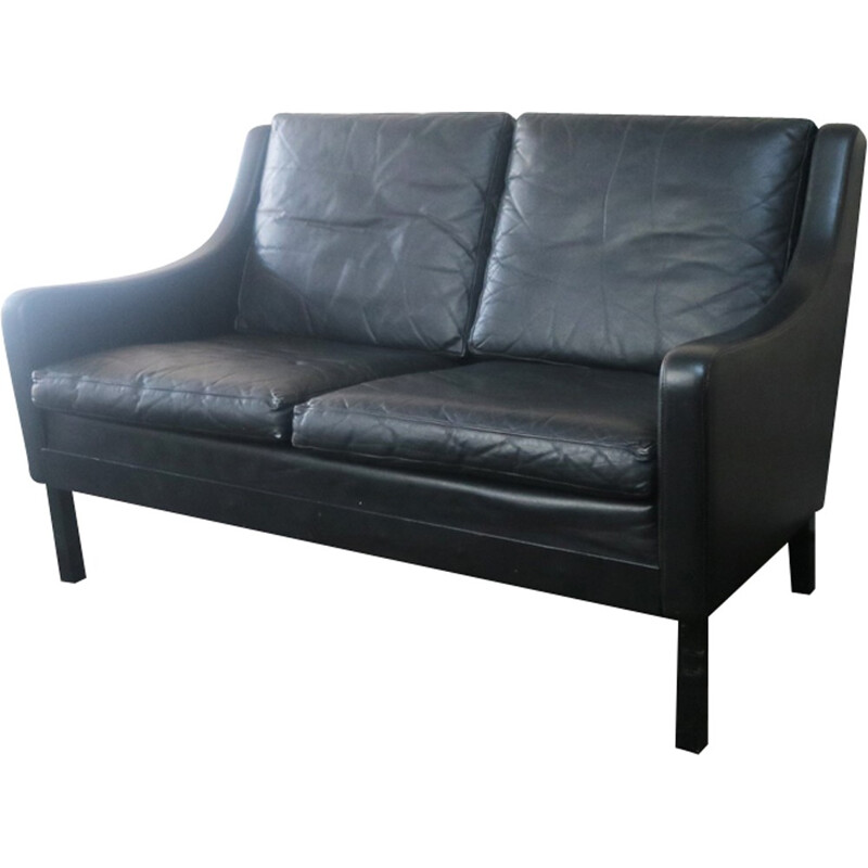 Vintage danish sofa in  leather - 1970s