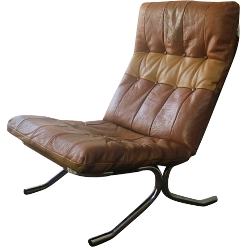 Vintage danish high backed lounge chair - 1970s