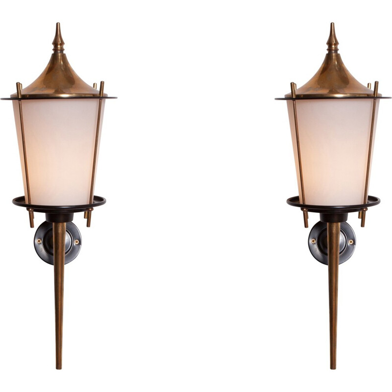 Vintage Pair of Wall Lights by Maison Arlus - 1970s