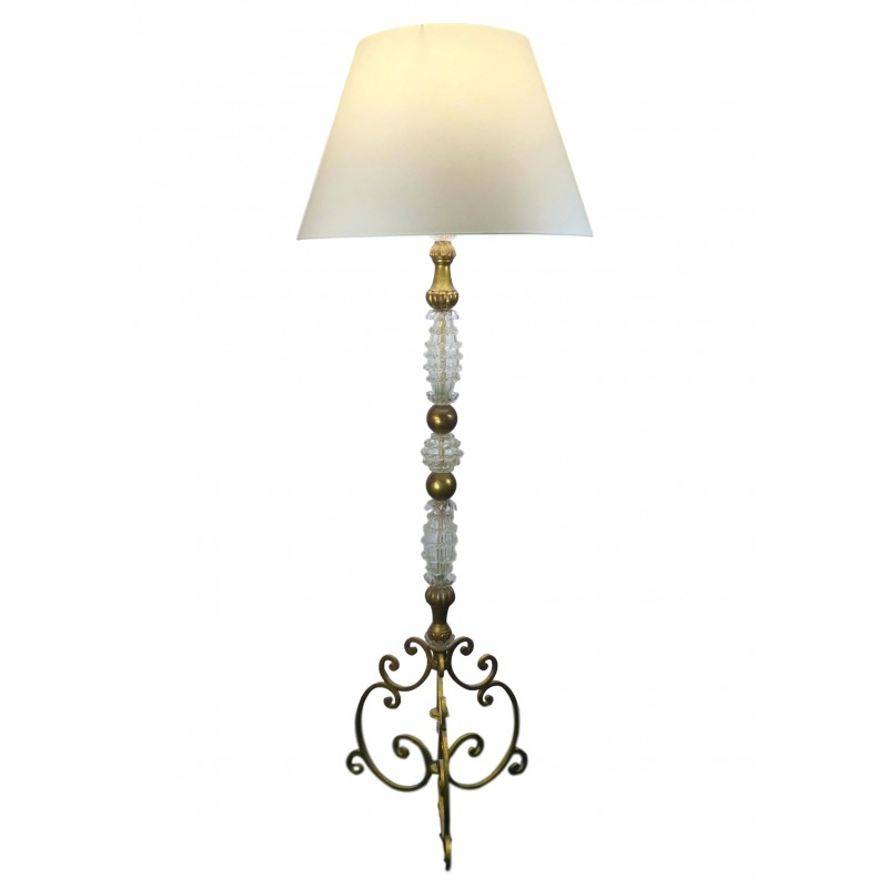 Large murano baroque floor lamp and gilded wood 1960s design market previous aloadofball Images