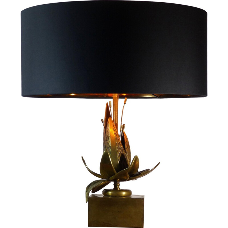 Vintage table lamp in solid brass - 1970s