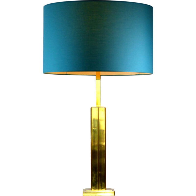Vintage table lamp in gilded brass - 1970s