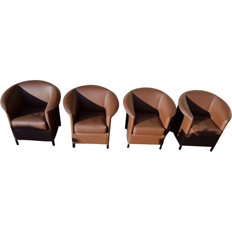 "Set of 4 vintage ""Aura"" armchairs by Paolo Piva for Wittmann - 1980s"