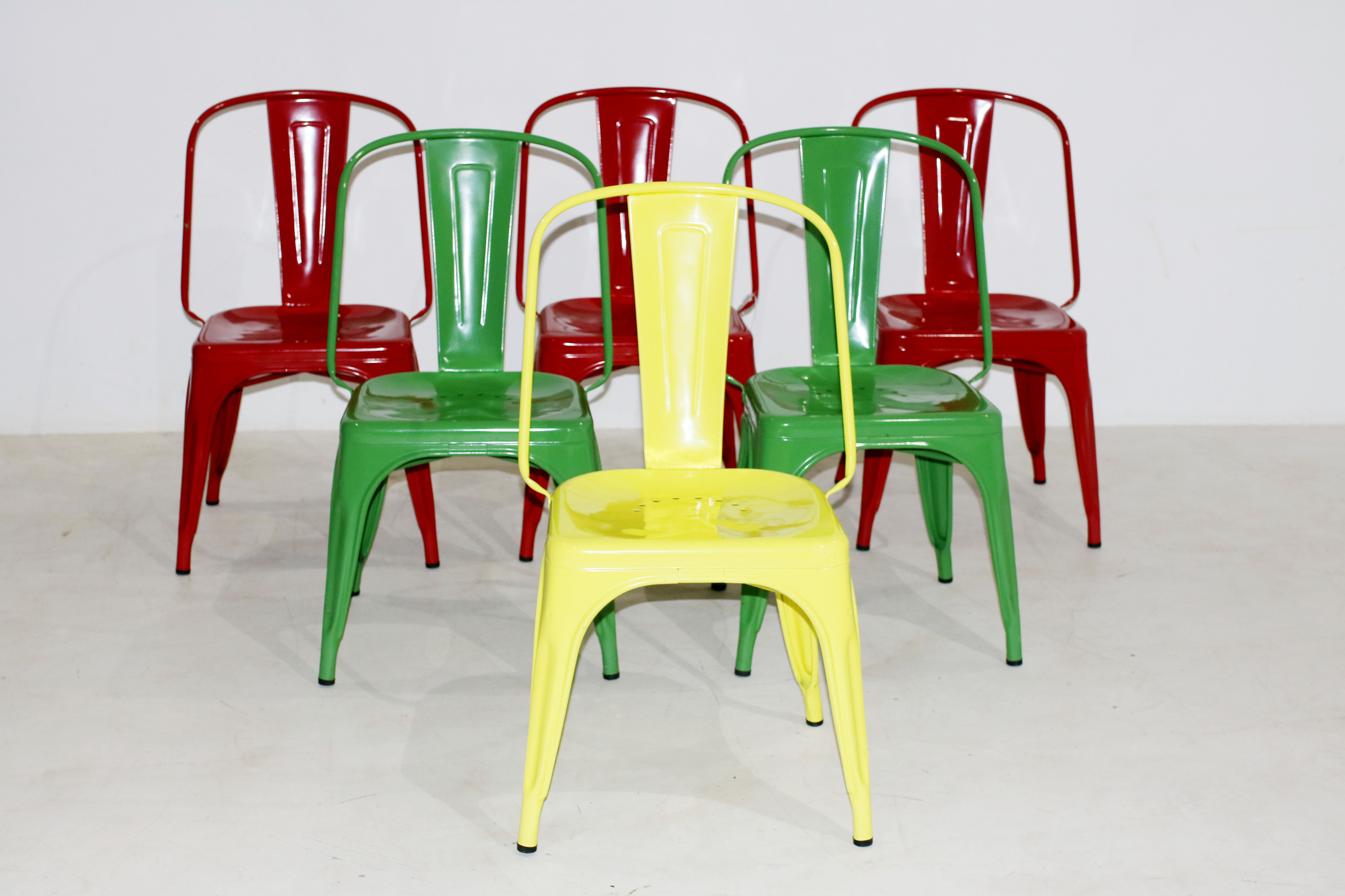 Set of 6 vintage Chairs by Xavier Pauchard for Tolix 1940s
