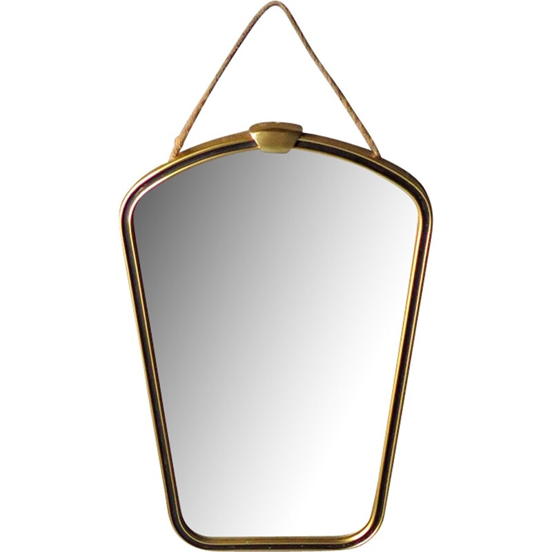 Vintage small mirror with golden frame - 1960s