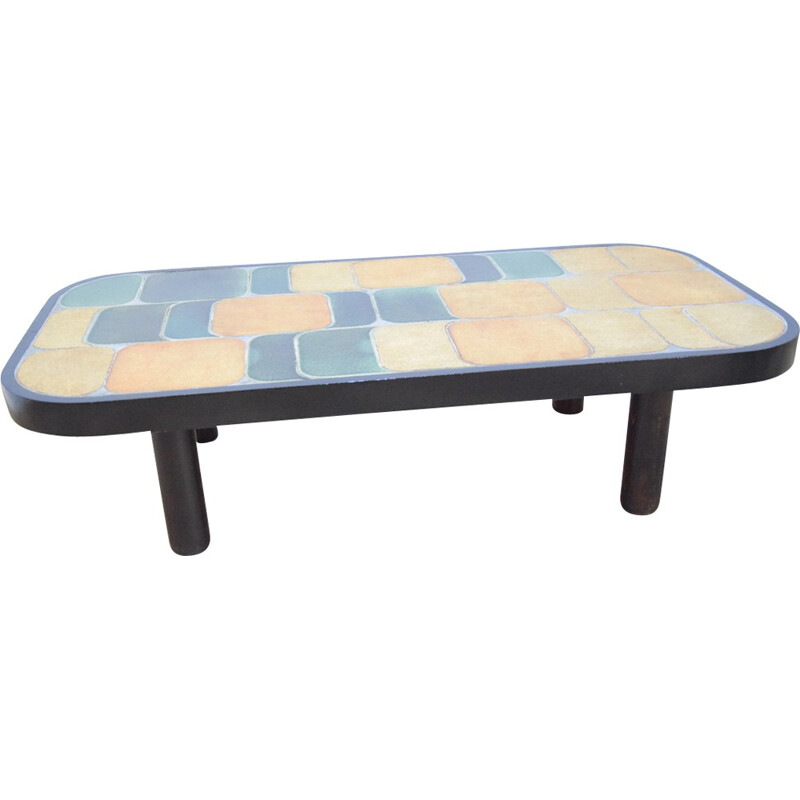 """Vintage """"Shogun"""" Coffee table by Roger Capron - 1960s"""