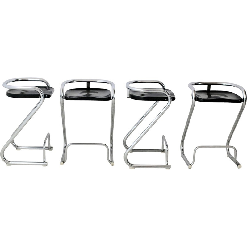 "Set of 4 Model ""S70-3"" Stools by Borge Lindau & Bo Lindekrantz for Lammhults - 1968"