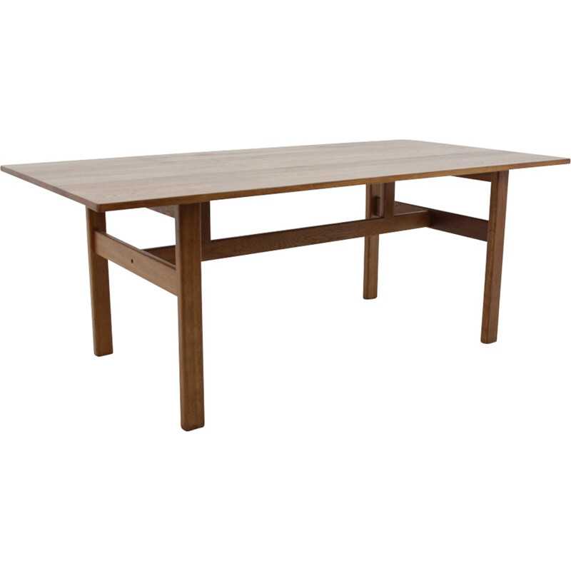 Vintage extendable dining table in solid oak by Kurt Østervig - 1960s