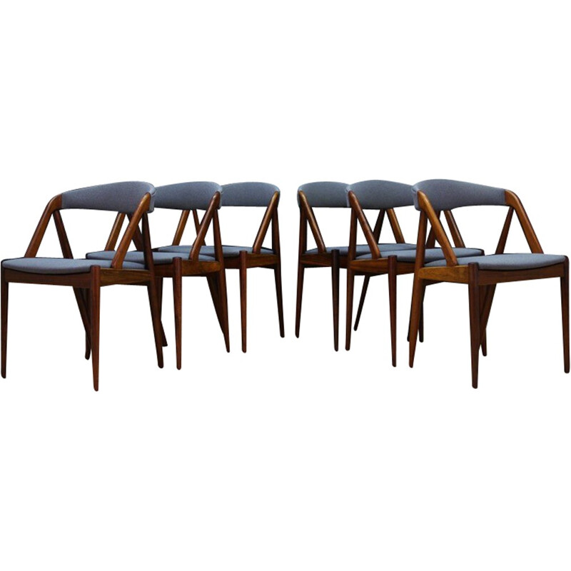 Set of 6 vintage danish chairs by Kai Kristiansen - 1960s