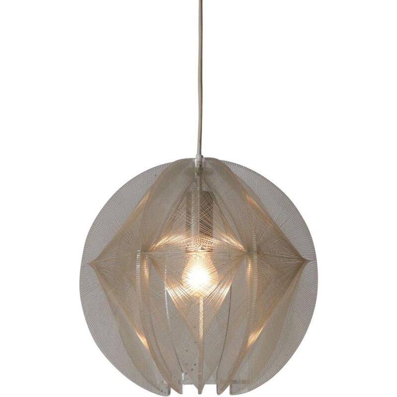 Vintage french lucite hanging lamp - 1970s