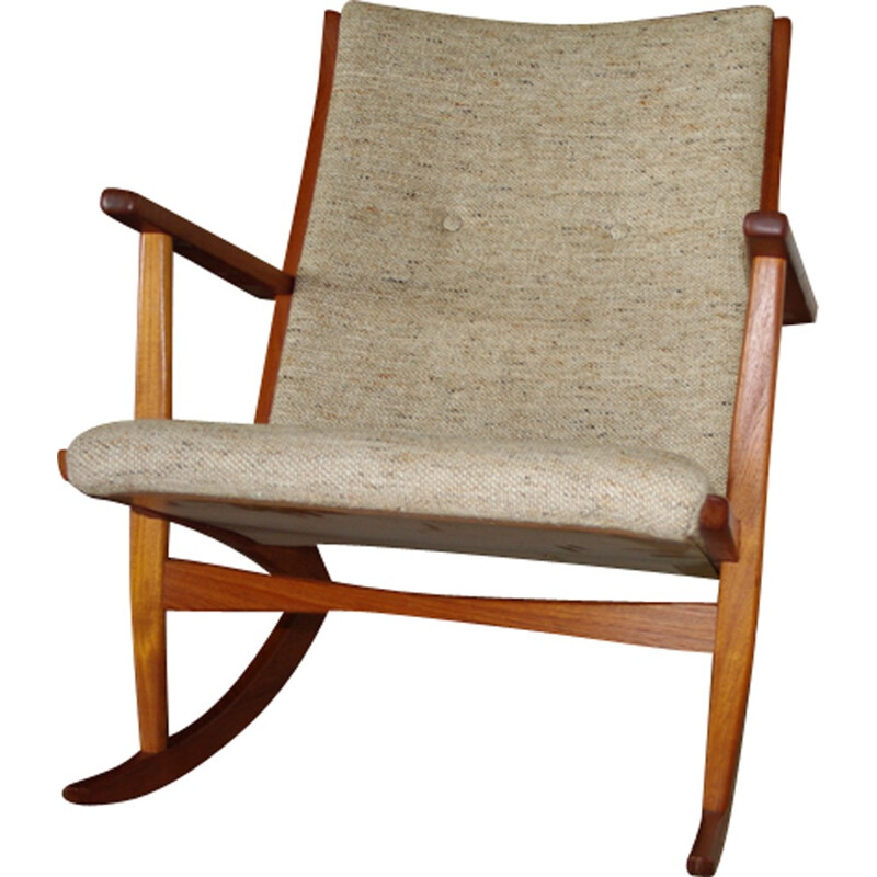 Vintage Danish rocking chair in teak - 1950s