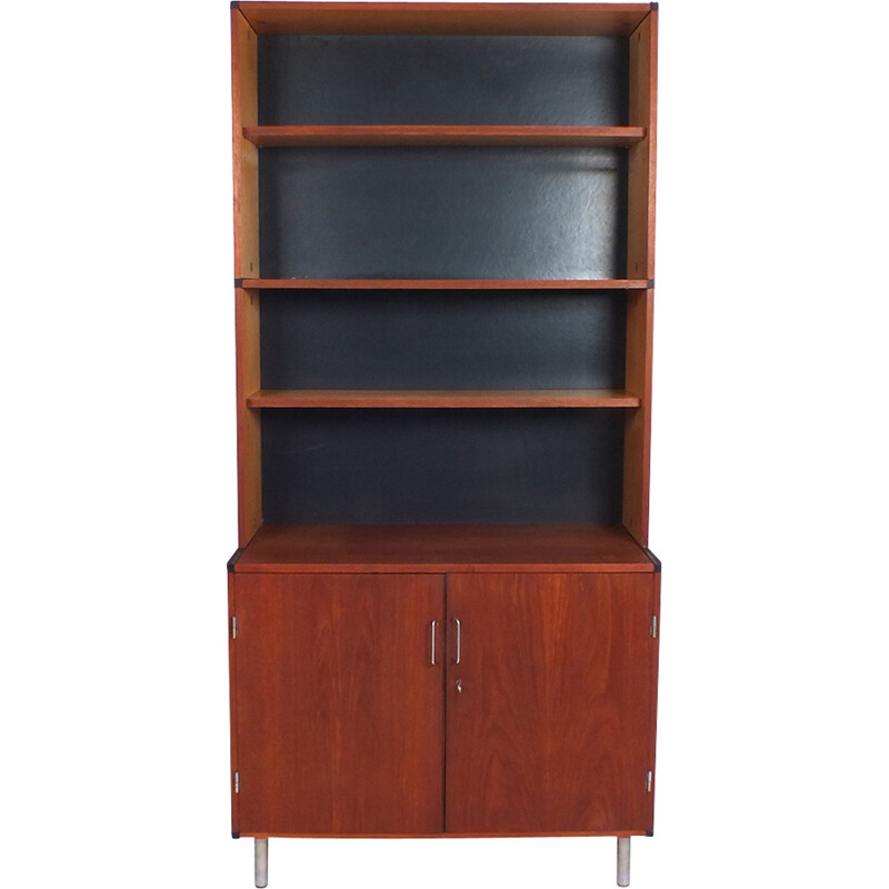 Vintage cabinet in teak with 4 shelves by C. Braakman for Pastoe - 1960s