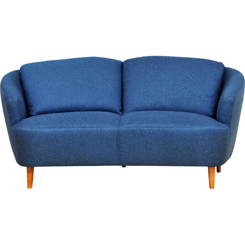 Vintage 2-Seater Sofa in royal blue - 1950s