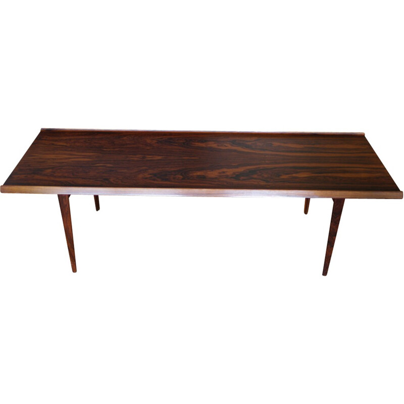 Rosewood coffee table by Harry Rosengren Hansen - 1950s
