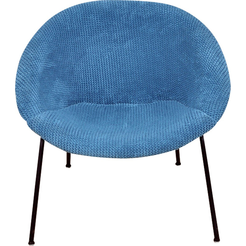 "Blue Shell Chair model ""369"" by Walter Knoll - 1950s"