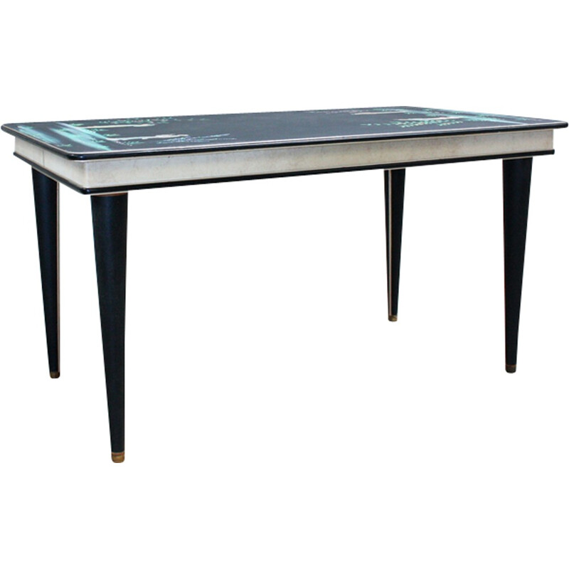 Vintage Hhnd painted dining table by Umberto Mascagni - 1950s
